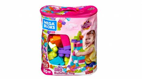 Big Building Bag (pink) (80 pieces)