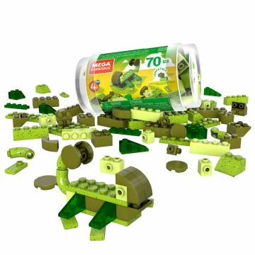 Mega Construx Wonder Builders 70 pcs Building Tube (Green)