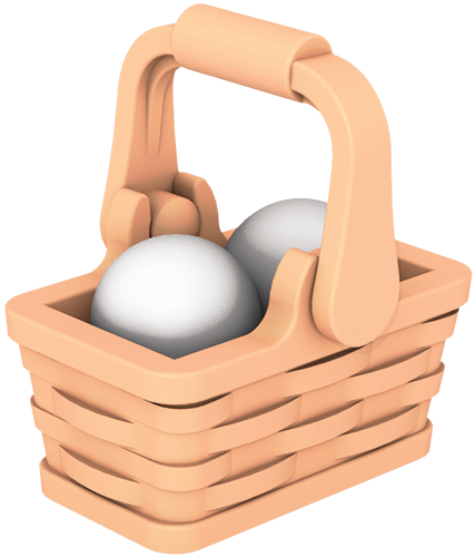 Image of: Basket and Eggs