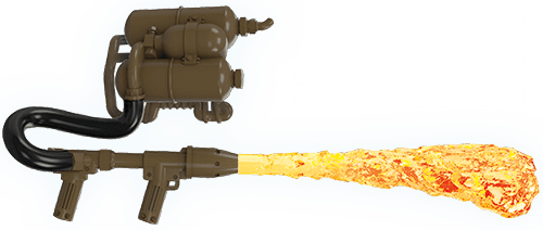 Image of: WWII Flamethrower