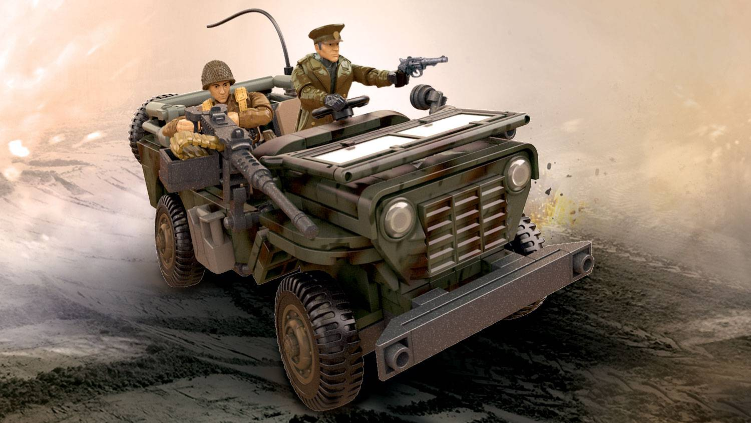 Call Of Duty Infantry Scout Car Mega Construx