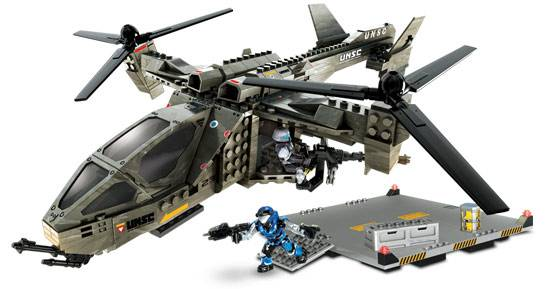 Image of: UNSC Falcon with landing pad